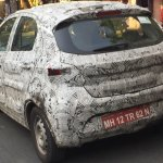 Tata Kite rear three quarter spotted on test car in Pune