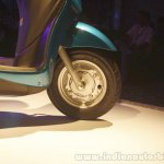 Yamaha Fascino Launch at Mumbai front wheel