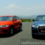 2015 Audi Q3 facelift front angle India Review