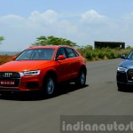 2015 Audi Q3 facelift front quarters tracking India Review