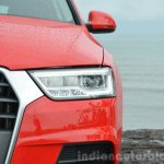 2015 Audi Q3 facelift headlight cluster India Review