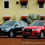 2015 Audi Q3 facelift new colors front quarter India Review