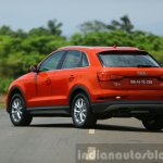 2015 Audi Q3 facelift red rear quarter India Review