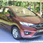 2015 Honda Jazz 1.2 VX MT front quarter India