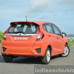 2015 Honda Jazz Diesel VX MT rear three quarters Review