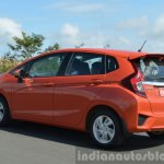2015 Honda Jazz Diesel VX MT tracking shot of the rear Review