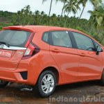 2015 Honda Jazz Petrol V CVT rear three quarter Review