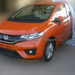 2015 Honda Jazz front quarter spied ahead of launch