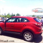 2015 Hyundai Creta rear three quarter spotted undisguised outside plant with Ford EcoSport