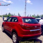 2015 Hyundai Creta rear three quarter spotted undisguised outside plant