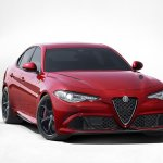 2016 Alfa Romeo Giulia front three quarter press shot