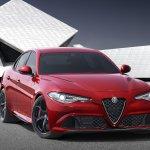 2016 Alfa Romeo Giulia front three quarter unveiled press shot