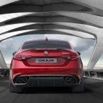 2016 Alfa Romeo Giulia rear unveiled press shot