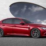2016 Alfa Romeo Giulia side unveiled press shot