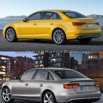 2016 Audi A4 (B9) vs 2013 Audi A4 (B8) rear quarter old vs new