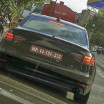 2016 Audi A4 rear India spied