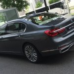 2016 BMW 7 Series rear quarter spotted for first time post unveil