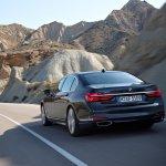 2016 BMW 7 Series rear three quarter unveiled in Munich