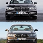 2016 BMW 7 Series vs 2014 BMW 7 Series front Old vs New