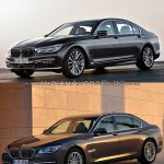 2016 BMW 7 Series vs 2014 BMW 7 Series front three quarter Old vs New