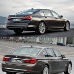 2016 BMW 7 Series vs 2014 BMW 7 Series rear quarter Old vs New