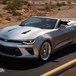 2016 Chevrolet Camaro convertible front three quarter leaked