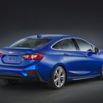 2016 Chevrolet Cruze rear three quarter official image
