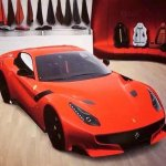 2016 Ferrari F12 GTO front three quarter leaked configurator image