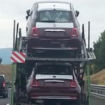2016 Fiat 500 facelift rear leaked