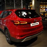 2016 Hyundai SantaFe Prime rear three quarter unveiled in Korea