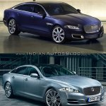2016 Jaguar XJ vs 2014 Jaguar XJ front three quarter Old vs New
