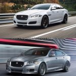 2016 Jaguar XJR vs 2014 Jaguar XJR front quarter Old vs New