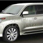 2016 Lexus LX front three quarter leaked image