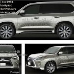2016 Lexus LX side and front leaked image