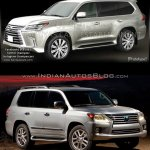 2016 Lexus LX570 vs 2014 Lexus LX570 front three quarter Old vs New