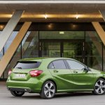 2016 Mercedes A Class Sport (facelift) rear three quarter revealed press image