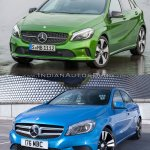 2016 Mercedes A Class vs 2012 Mercedes A Class front quarter Old vs New