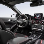 2016 Mercedes A45 AMG (facelift) interior revealed press image