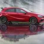 2016 Mercedes A45 AMG (facelift) side revealed press image