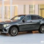2016 Mercedes GLC Coupe front three quarter IAB rendering