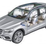 2016 Mercedes GLC airbags unveiled press images