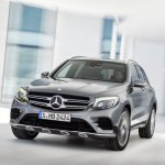 2016 Mercedes GLC dynamic front shot unveiled press images