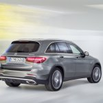 2016 Mercedes GLC dynamic rear quarter shot unveiled press images
