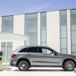 2016 Mercedes GLC off road pack side unveiled press images