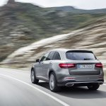 2016 Mercedes GLC off road rear quarter unveiled press images