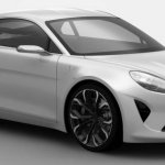 2016 Renault Alpine near-production concept front three quarter revealed in patent images