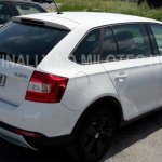 2016 Skoda Rapid Scout rear three quarter spotted undisguised