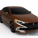 2017 Mitsubishi Lancer front three quarter unofficial rendering