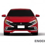 2017 Mitsubishi Lancer front unofficial rendering