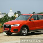Audi Q3 facelift front quarter India Review